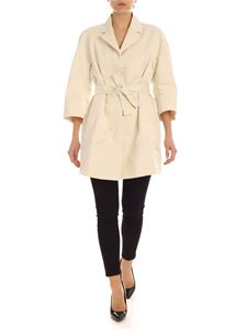 ADD - Trench coat in ivory color technical fabric