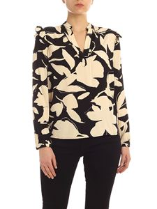 Calvin Klein - Printed blouse in beige and black