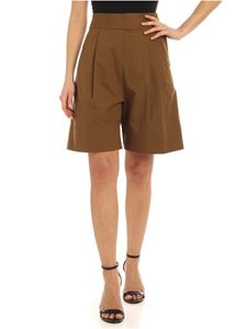 Aspesi - Double pleated shorts in Army green