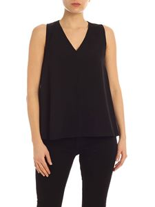 Calvin Klein - Black top with side buttons