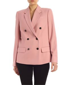 Calvin Klein - Double-breasted twill jacket in pink