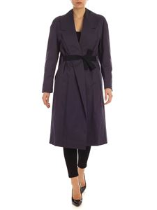 Semicouture - Lalle trench coat in blue