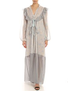 Semicouture - Florence dress in beige and light blue