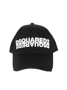 Dsquared2 - Mirrored logo hat in black
