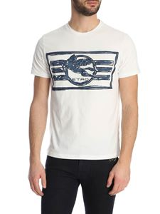 Etro - T-shirt in white with embroidered logo