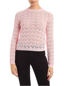 be Blumarine - Openwork knitting pullover in pink
