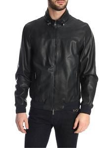Etro - Dark Blue nappa leather jacket