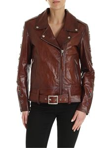 Golden Goose - Victoria biker jacket in dark brown