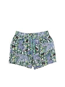 Kenzo - Disco Jungle swim trunks in white green and blue