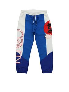 Kenzo - Pantalone Dragon Celebration blu e bianco
