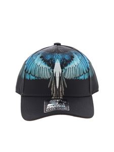 Marcelo Burlon Kids - Cappello da baseball Wings Turquoise nero