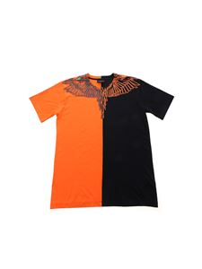 Marcelo Burlon Kids - Wings Orange-Black T-shirt