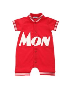 Moncler Jr - Piquet romper suit in red