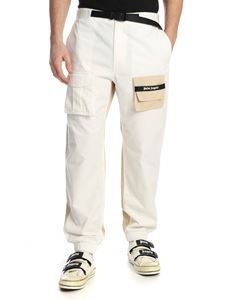 Palm Angels - Two Tone Cozy pants in white