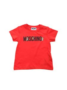 Moschino Kids - Moschino Teddy Bear T-shirt in red