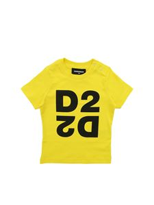 Dsquared2 - D2 print T-shirt in yellow