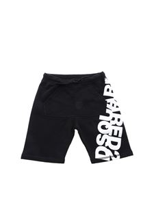 Dsquared2 - Mirrored logo bermuda in black