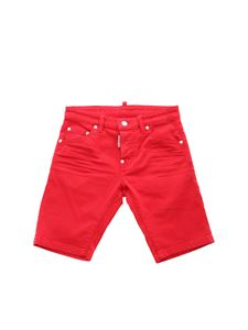 Dsquared2 - Rubber logo bermuda in red
