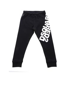 Dsquared2 - Mirrored logo pants in black