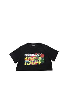Dsquared2 - Dsquared 1964 crop T-shirt in black
