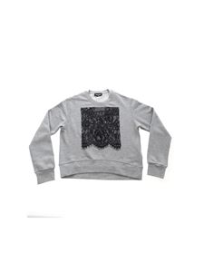 Dsquared2 - Black lace sweatshirt in grey