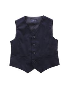 Il Gufo - Elastic detail vest in blue