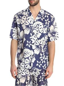 Palm Angels - Floral printed bowling shirt