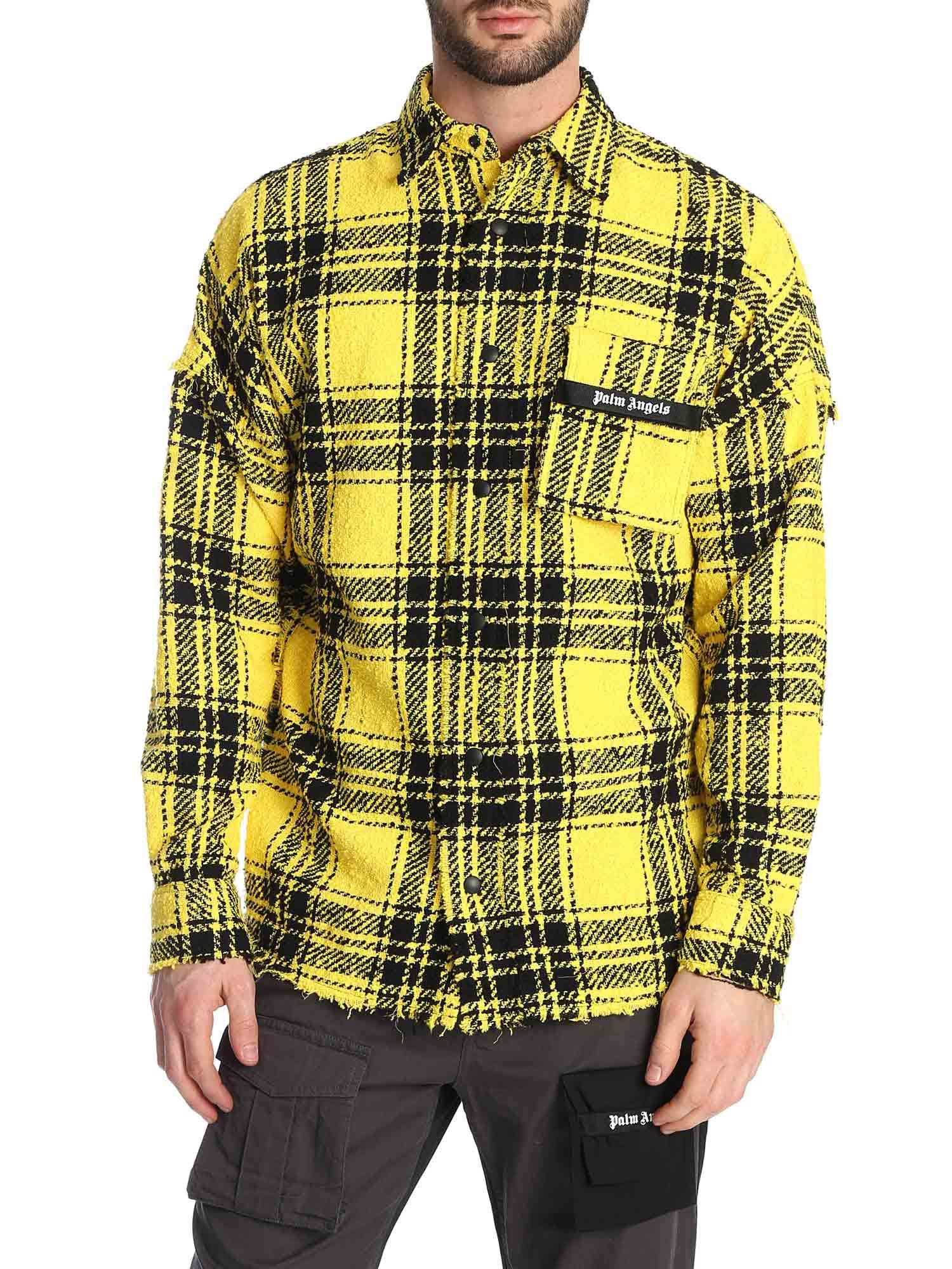 Palm Angels Tops FIRESTARTER OVERFIT SHIRT IN YELLOW