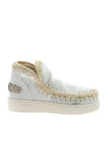 Mou - Sneakers Summer Eskimo in paillettes bianche