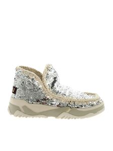 Mou - Eskimo Trainer silver sequins sneakers