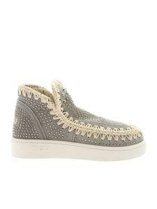 Mou - Snekares Low-Cut Summer grigie con strass