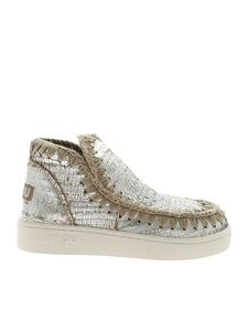 Mou - Summer Eskimo sneakers in silver laminated leather