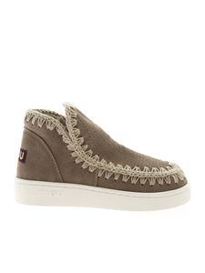 Mou - Summer Eskimo sneakers in dove grey suede