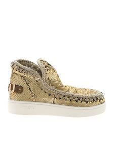 Mou - Summer Eskimo gold sequins sneakers