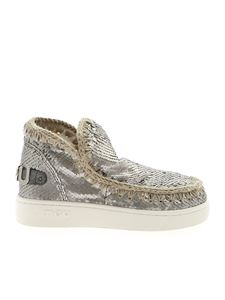 Mou - Summer Eskimo silver sequins sneakers