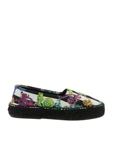Versace Jeans Couture - Printed espadrilles in black and white