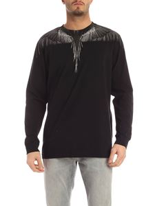 Marcelo Burlon County Of Milan - Black Wings long sleeve t-shirt in black