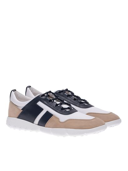 Tod's - Sneaker All Competition beige e blu