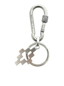 Marcelo Burlon County Of Milan - Cross Snap keyring in silver color