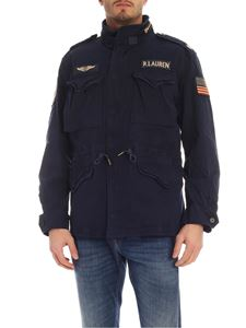 POLO Ralph Lauren - Field jacket in blue with multi patch