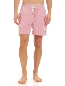 POLO Ralph Lauren - Swim trunks in red and white stripe
