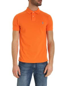 POLO Ralph Lauren - Slim fit polo shirt in orange with light blue logo