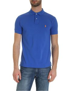POLO Ralph Lauren - Slim fit polo shirt in blue with orange logo