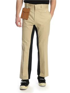 Palm Angels - Pocket pants in beige cotton