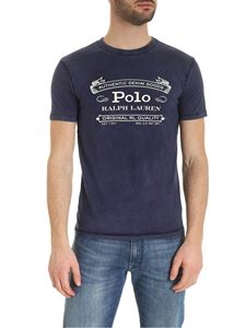 POLO Ralph Lauren - T-shirt in blue with contrasting logo print