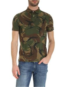 POLO Ralph Lauren - Custom slim fit polo shirt in green camouflage