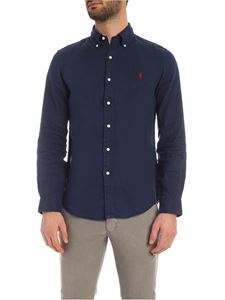 POLO Ralph Lauren - Button down shirt in blue with red logo