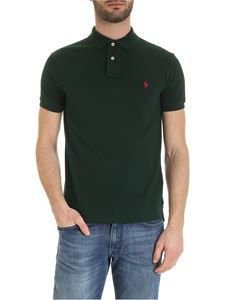 POLO Ralph Lauren - Slim fit polo shirt in dark green with red logo