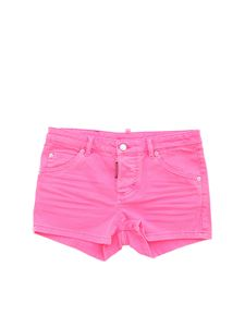 Dsquared2 - Shorts with logo in neon pink