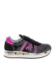 Premiata - Conny sneakers in grey and black sequins
